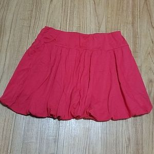 Red mini skirt size 14-15